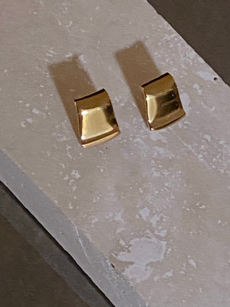 OROTON Gold Plated Modernist Pierced Earrings