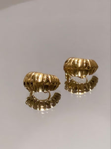 NAPIER Gold Plated Screw Back Earrings
