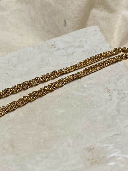 OROTON Twisted Chain Gold Plated Necklace