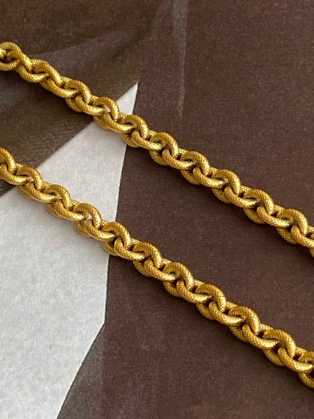 MONET 1970-1980 Gold Plated Chain Necklace / Body Chain
