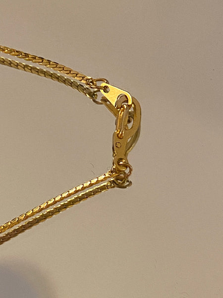 1970-1980 Fine Slinky Gold Plated Chain Necklace