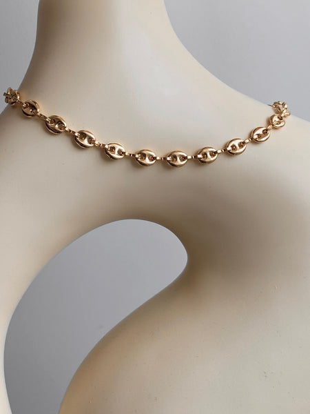 1970-1980 Gold Filled Mariner Gucci Link Chain Necklace
