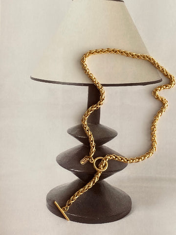 Jones New York 1980 Gold Plated Toggle Chain Necklace