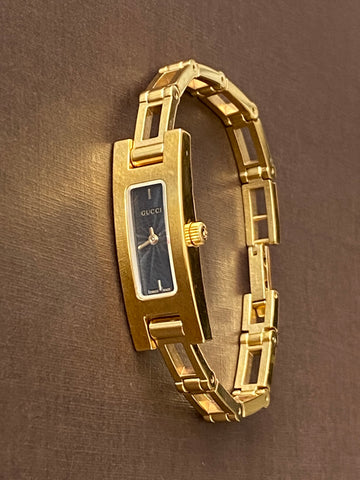 GUCCI Gold Plated Chain Bracelet Watch