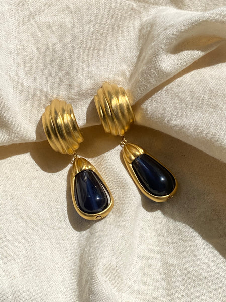GIVENCHY 1980 Drop Clip On Earrings