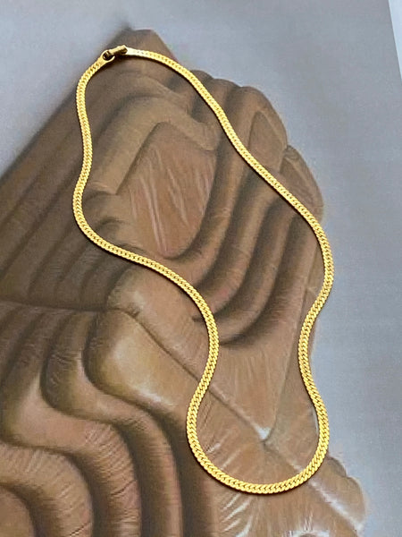 MONET 1970-1980 Gold Plated Chain Necklace