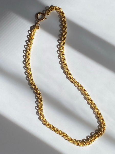 1970-1980 Belcher Link Gold Plated Chain Necklace