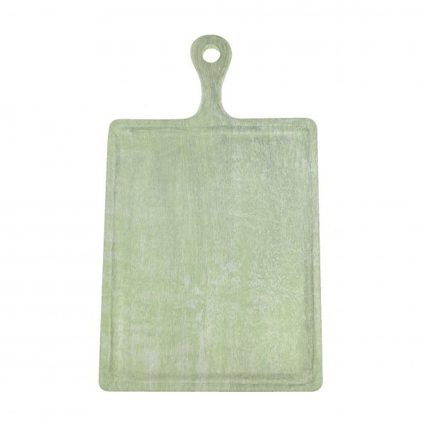 Rectangle Serving Board With Handle - 300x400x200mm, Mangowood, Green