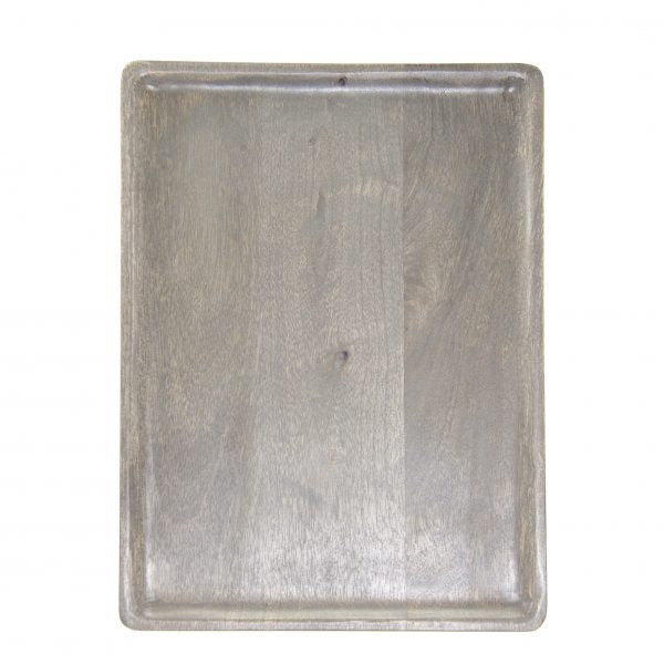 Rectangle Serving Board - 350x255x15mm, Mangowood, Grey