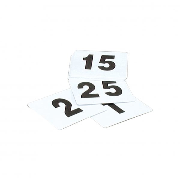 Table Number Set - 1-100, (Black On White)