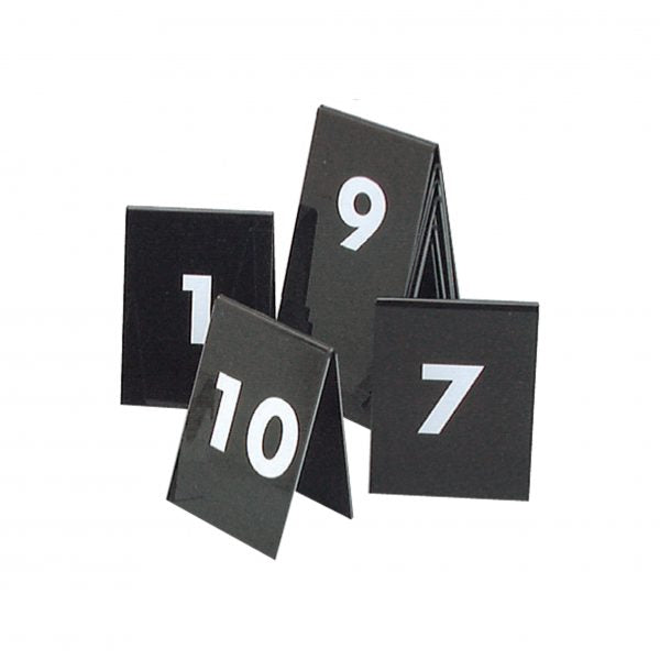 Table Numbers - 75X55mm, 21-30, (White Text On Black)