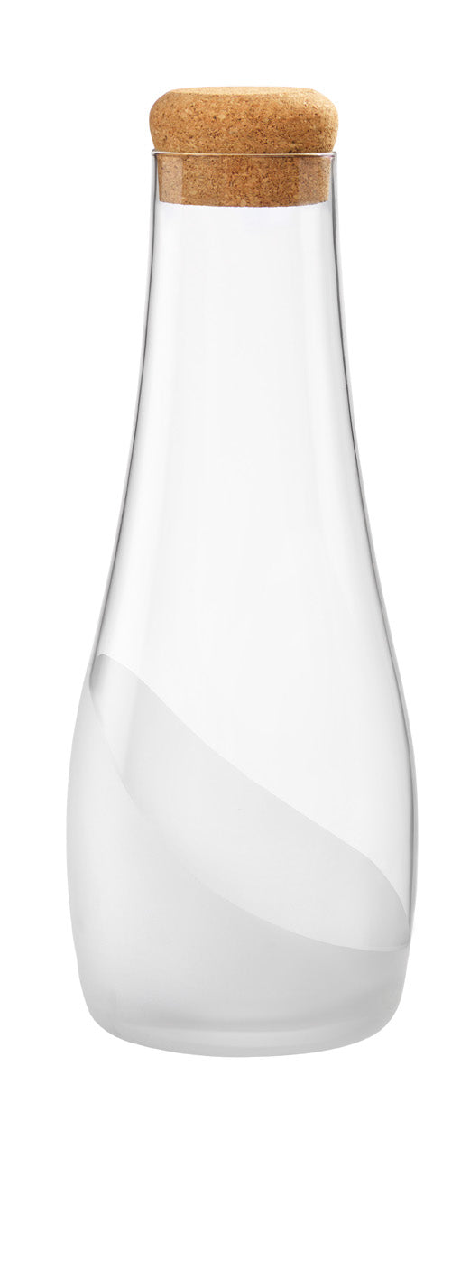 Carafe with Cork Lid Part Frosted - 1.0L, Wave