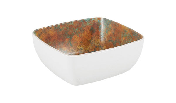 Patina Rectangular Bowl - 176x162x75mm, White