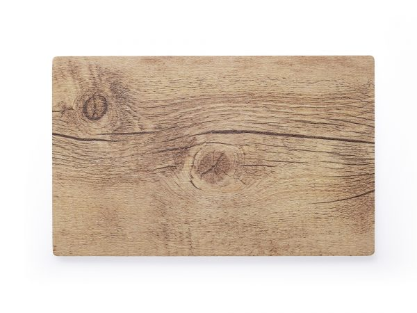 Rectangle Melamine Oak Board - 410x255mm, Wood Effect