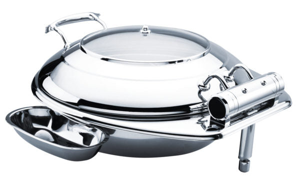 Round Small Deluxe Chafer With Glass Lid
