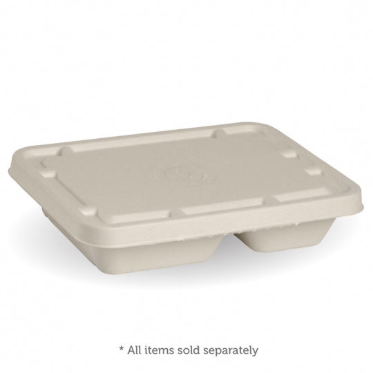 2 compartment take away container - 530-380ml, natural, box of 500