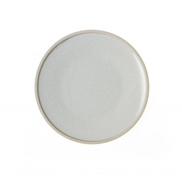 Round Plate - 255mm, Soho, White Pebble