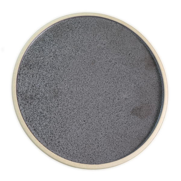 Round Plate - 200mm, Soho, Speckle Black