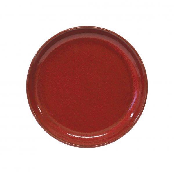 Round Plate - 270mm, Red Reactive