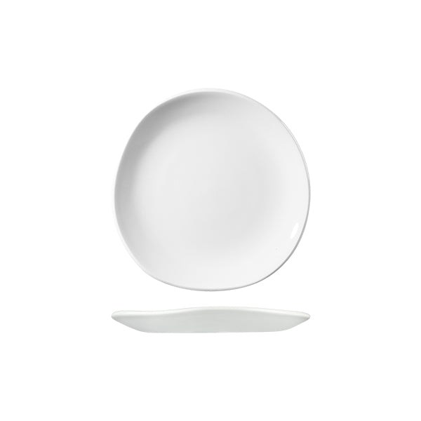 Trace Organic Round Plate - White, 186mm