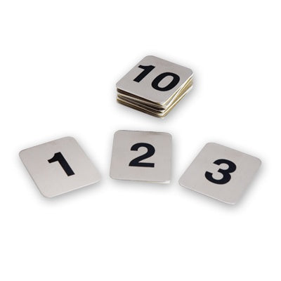 Adhesive Table Numbers - S-S, Set 1 - 10