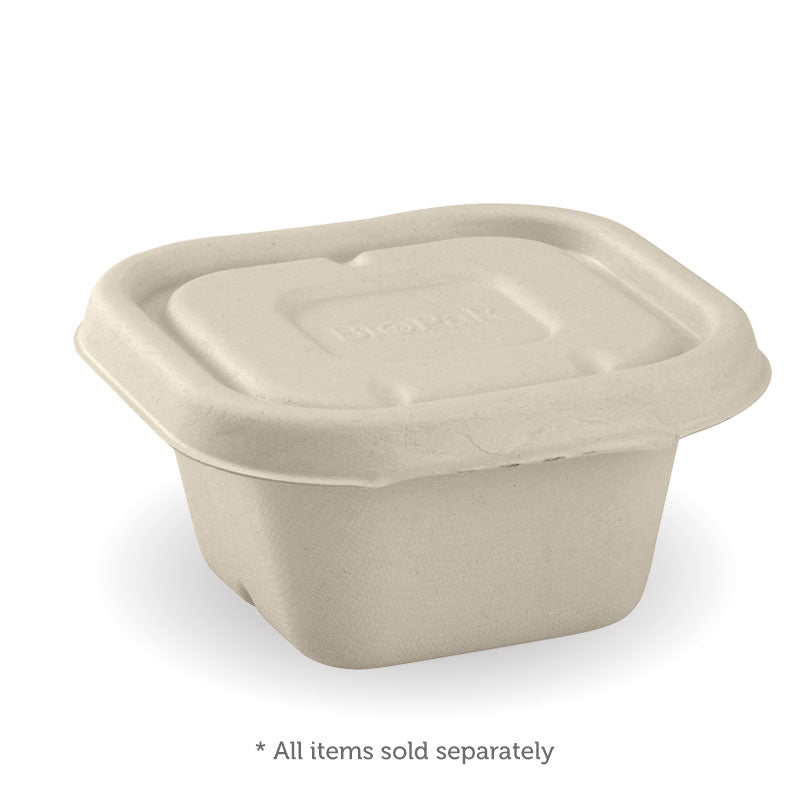 Medium Square Sugarcane Container - Natural, 480ml (Box of 600)