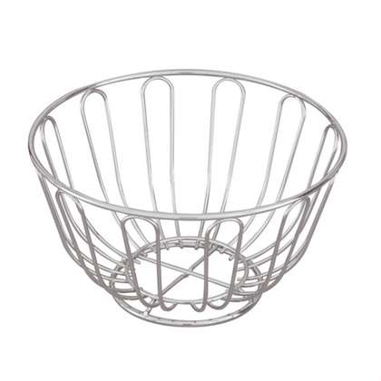 Bread Basket - Chrome, Round, 240 x 115mm