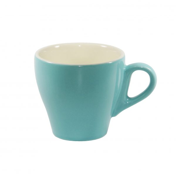 Long Black Cup - 220ml, Teal-White