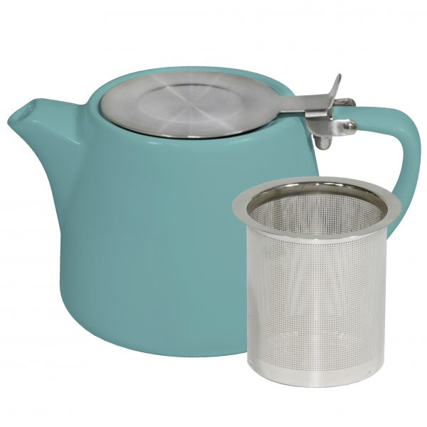 Stackable Teapot - with S-S Infuser & Lid, 500ml, Teal