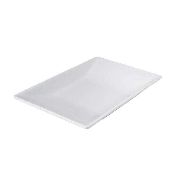 Curved Rect. Platter - White, 320 x 210mm