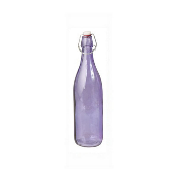 Glass Bottle - Purple, Round, 1.0Lt