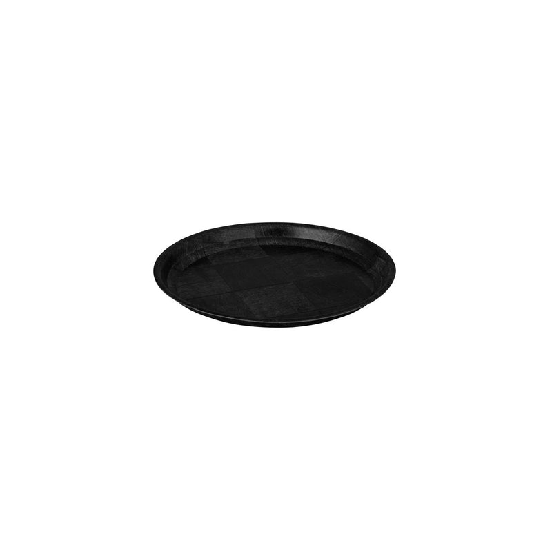 Round Tray, 150mm - Black Woven Wood