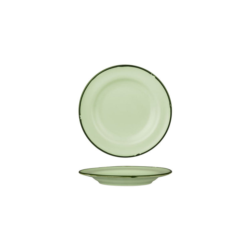 Round Plate 170mm - Tintin Green & Green