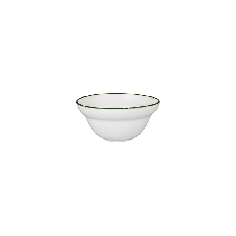 Round Bowl - 150mm, Tintin White & Green