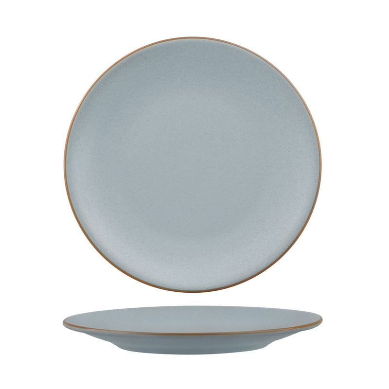 Round Coupe Plate - 230mm, Zuma Bluestone