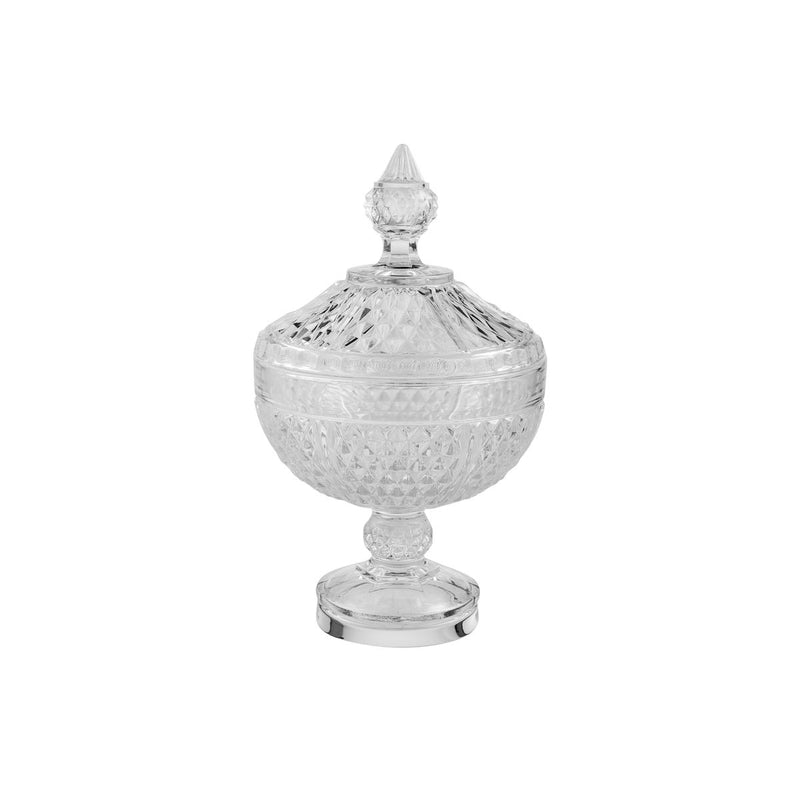 Diamond Footed Bowl & Cover, 135mm