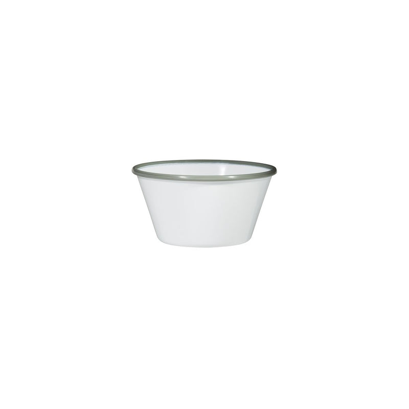 Tapered Bowl, 125 x 125 x 67mm, Melamine - White & Grey