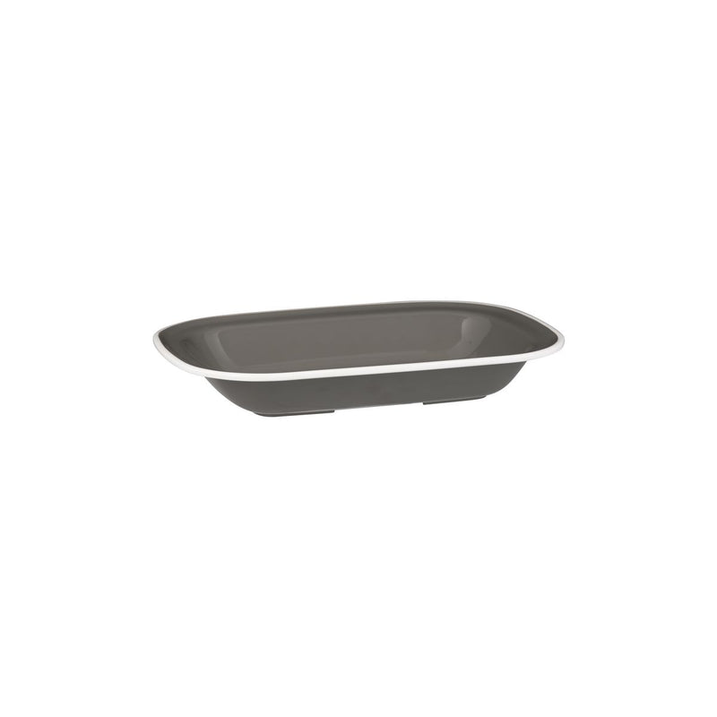 Rectangular Dish, 230 x 176 x 45mm, Melamine - Grey & White