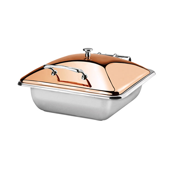 Induction Chafer - S-S, Rect., 1-2 Size, Princess, Rose Gold