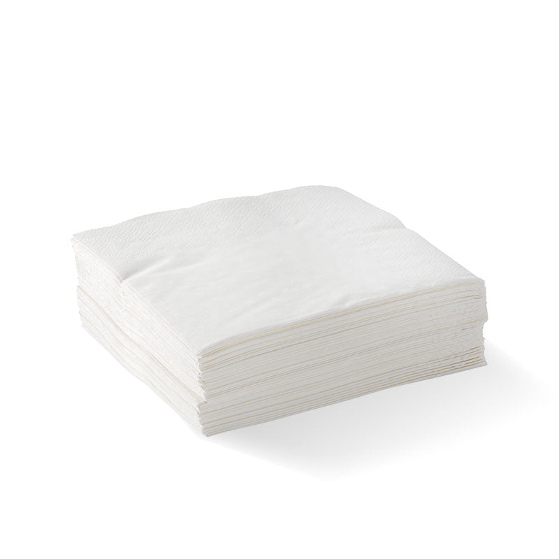 Cocktail Napkin - Embossed, White, 2ply (Box of 2000)