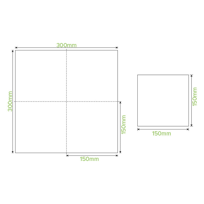 Lunch Napkin - White, 1-4 Fold, 1ply (Box of 3000)