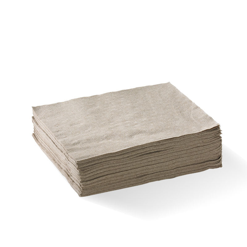 Lunch Napkin - Natural, 1-4 Fold, 2ply (Box of 2000)