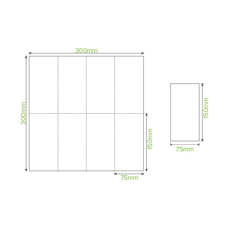 Lunch Napkin - White, 1-8 Fold, 2ply (Box of 2000)