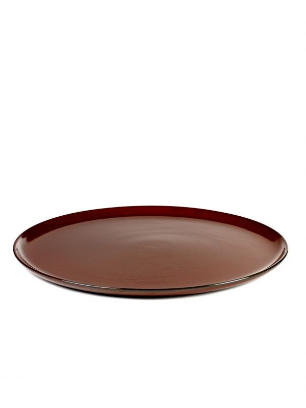 Round Large Plate - 260mm, Rust