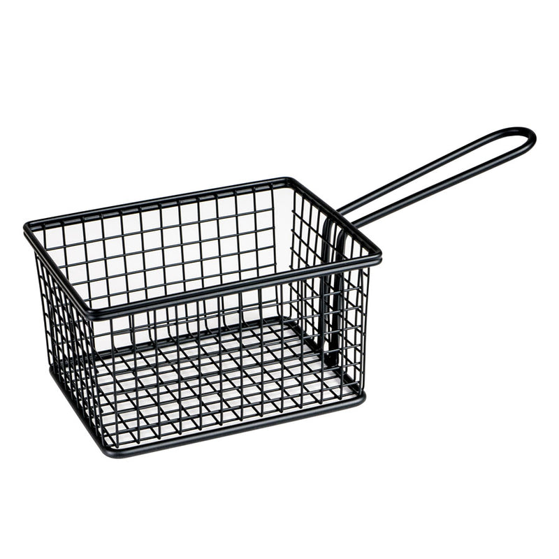 Service Basket - Rectangular, Black 142 x 114 x 80mm