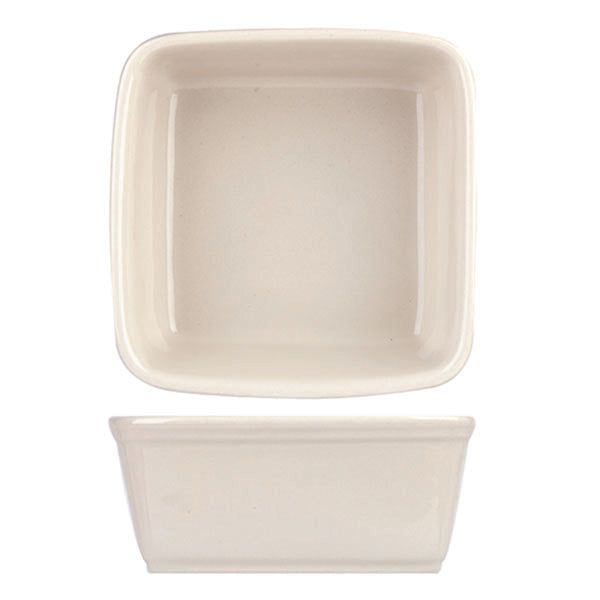 Square Tapas Dish - Cream, 180 x 180mm-1100ml
