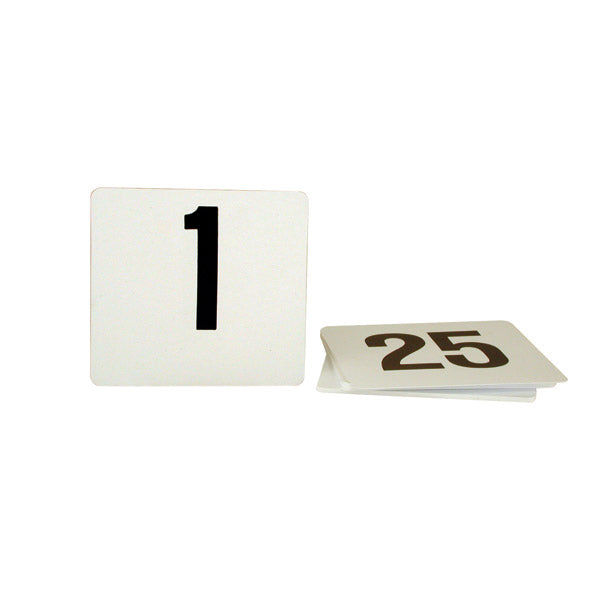 Table Number - 105 x 95mm, Set 1 - 25