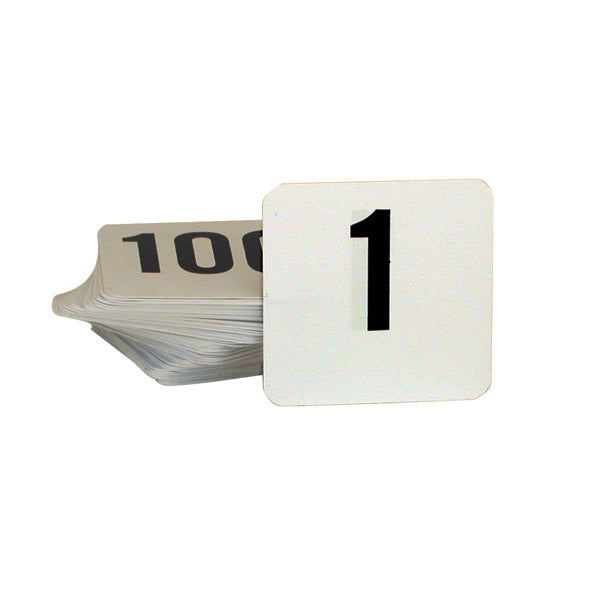 Table Number - 50 x 50mm, Set 1 - 25