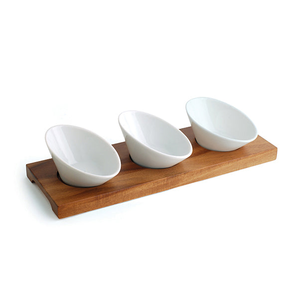Tapas Set - W-3 Dishes, 305 x 105 x 20mm