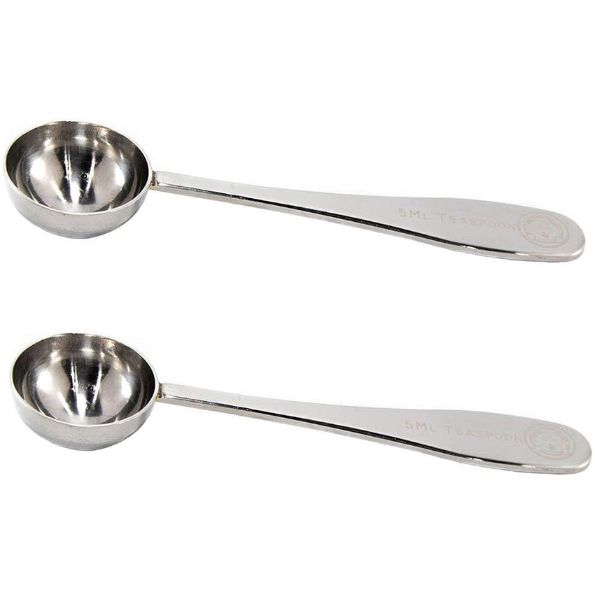 Teaspoon 5 ml Set of 2: Polished Stainless Steel